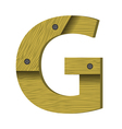 wood letter G vector image