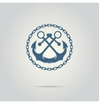 anchor silhouette isolated logo vector image
