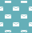 mail pattern seamless blue vector image