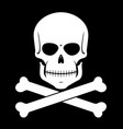 scull and bones vector image