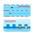 Sport Swimming Grand Openning Banners Set vector image