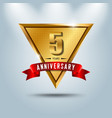 5 years anniversary celebration logotype vector image vector image