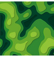 abstract elevation mapgreen paper cut out in vector image