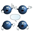Angry bowling ball set vector image vector image