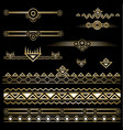 art deco set of objects and borders vector image vector image