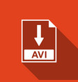 avi file document icon download avi button icon vector image vector image