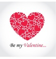 Background with hearts for Valentines Day vector image vector image