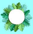 background with paper palm leaves vector image