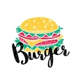 badge burger vector image