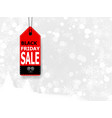 black friday sale with price tag vector image vector image