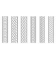 braid borders abstract braids border set vector image vector image