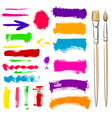 brushes and grunge painted elements vector image vector image