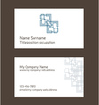 Business card layout Linear geometric logo and vector image vector image