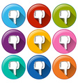 Buttons showing the disapproval sign vector image vector image