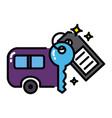 caravan icon colorful sharing economy concept vector image vector image