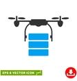 Cargo Drone Eps Icon vector image vector image