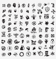 citynatureteen life sign and symbol- icon set vector image vector image