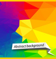 colorful abstract background vector image vector image