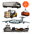 Colorful Logistic Set vector image vector image