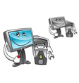 computer with tools vector image vector image