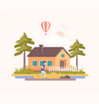 country landscape - modern flat design style vector image vector image