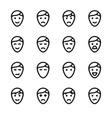 crisp face icons vector image