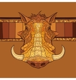 Decorative warthog head vector image vector image