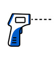 digital thermometer icon body temperature check vector image