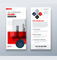 dl flyer design layout black red corporate vector image
