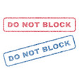 do not block textile stamps vector image vector image