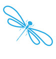 dragon-fly silhouette cartoon graphic vector image vector image