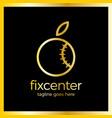 fix repair center logo vector image vector image