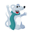flat mouse animal for vector image vector image