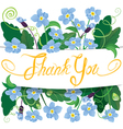 flowers thank you 380 vector image vector image