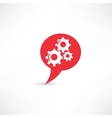 Gear into the speech bubble vector image vector image
