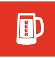 Glass of beer icon Beer and pub bar symbol UI vector image vector image