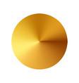 gold button metal circle button vector image vector image
