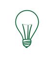 Green lightbulb sign vector image vector image