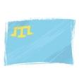 Grunge Crimean Tatar flag vector image vector image