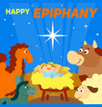 happy epiphany concept background cartoon style vector image vector image