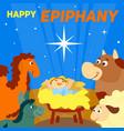 happy epiphany concept background cartoon style vector image