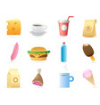 Icons for food vector image vector image