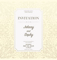 invitation floral pattern background vector image vector image