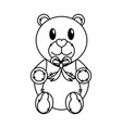 isolated teddy bear design vector image vector image