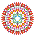 Kalocsai floral embroidery - Hungarian round folk vector image vector image