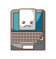 laptop computer with document vector image