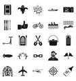 leisure at the hotel icons set simple style vector image vector image