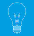 light bulb icon outline vector image vector image