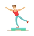 Man Doing Step Aerobics Member Of The Fitness vector image vector image