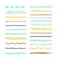 Marker strokes set vector image vector image